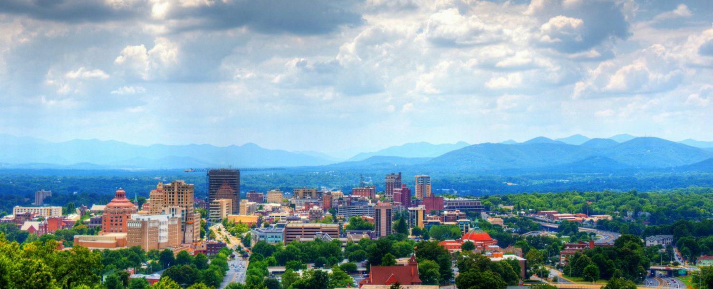 Asheville Skyline on a Pretty Day