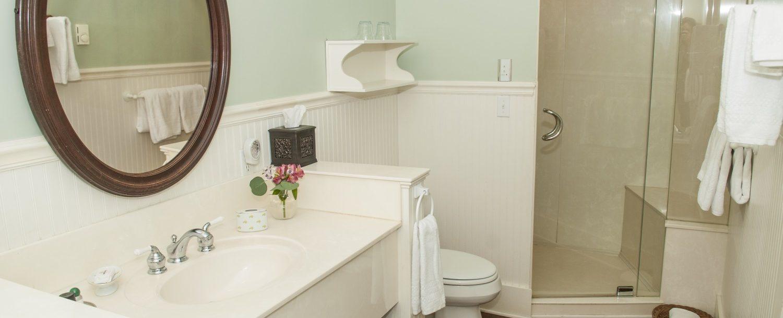 Bathroom off of suite room