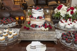 Two-tier wedding cake at The Orchard Inn
