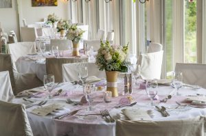 Wedding tables at The Orchard Inn