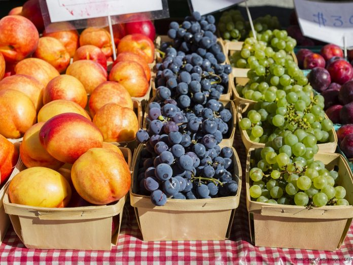 fruits at the saluda farmers market