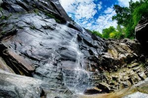 Waterfalls near Saluda; view of a cascade
