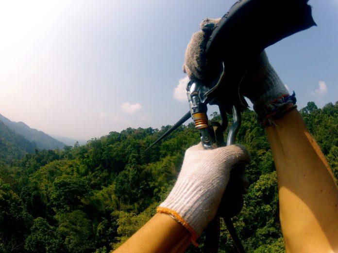 Ziplining in the mountains north carolina