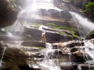 Waterfall Rappelling in North Carolina