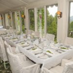 Wedding Reception Tables with our NC Large Group Wedding Package