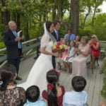 Wedding on patio