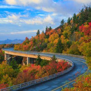 Enjoy driving the Blue Ridge Parkway near Asheville