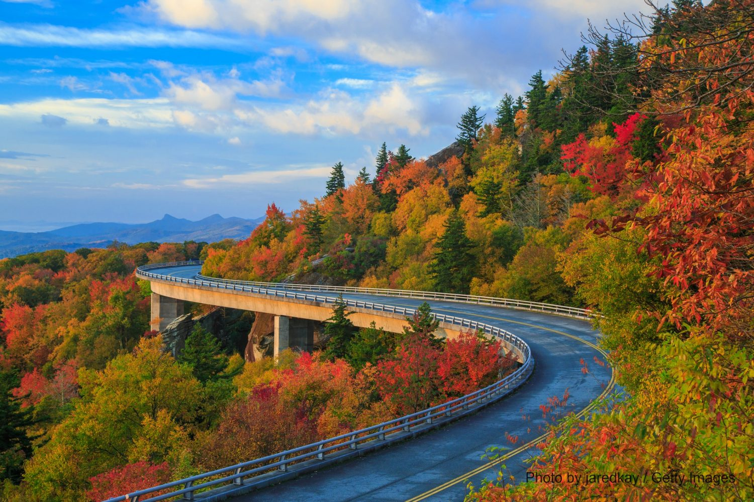 Enjoy driving the Blue Ridge Parkway near Asheville