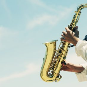 Saxophonist playing saxophone