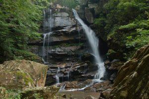 Big Bradley Falls in Saluda, NC