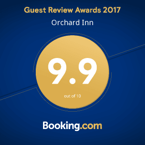 Orchard Inn Booking.com Guest Review Award 2017
