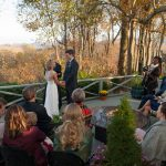 Sarah & Wes tying the knot at our NC Mountain wedding venue