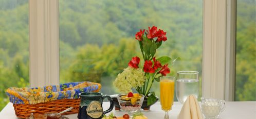 breakfast with view of mountains