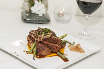 A meal served at the Wine Dinner at Newman's this April!
