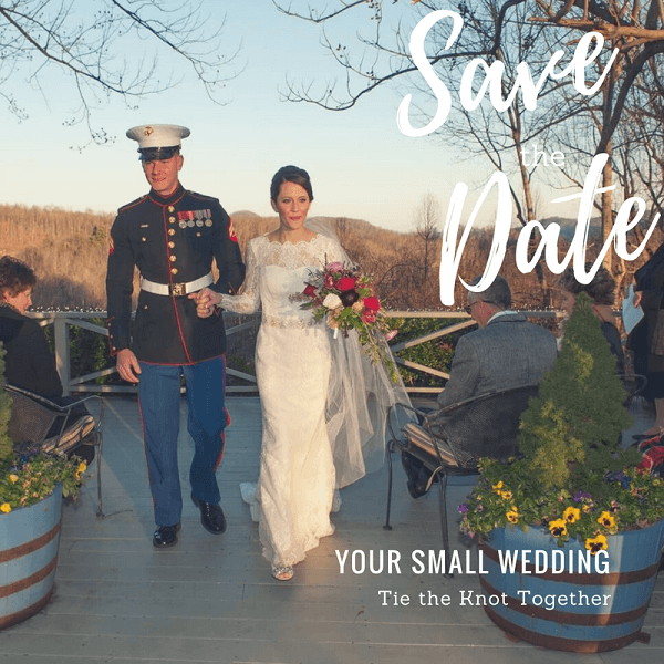 Save the Date for your small wedding at The Orchard Inn