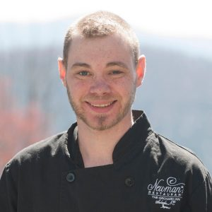 a portrait of Aaron Edwards, the executive chef at The Orchard Inn