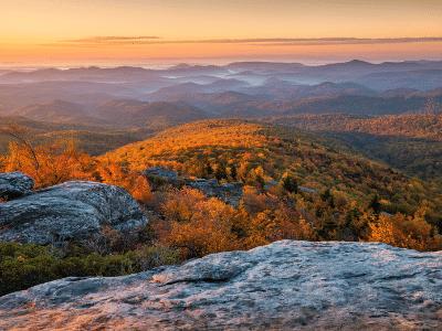 Blue Ridge Mountains Dramatic Sunrise